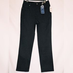 NWT Charter Club Black & White Polka Dot Jeans 10